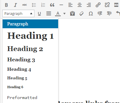 formatting blog post