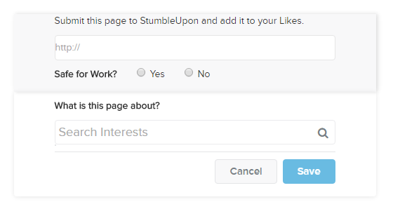 add a page stumbleupon